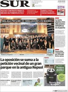 Portada diario 'Sur' - 20 de enero de 2016
